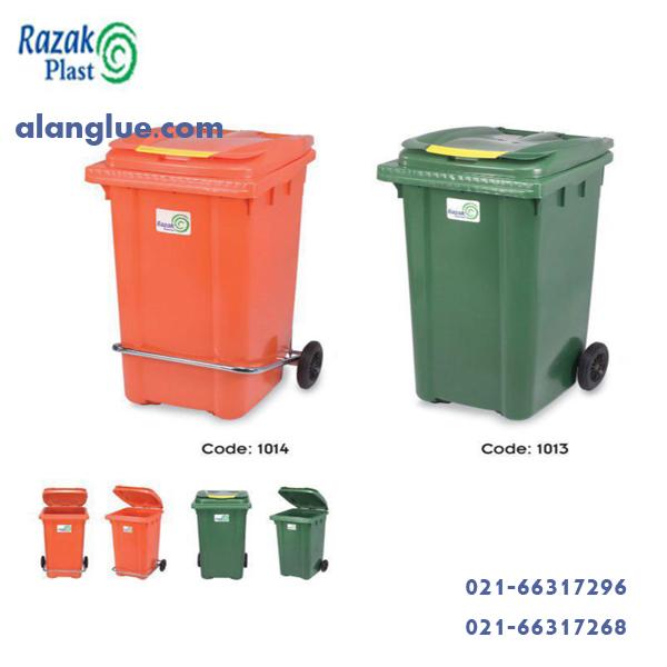 سطل زباله240لیتر مدل مخازن دوچرخزن دوچرخ