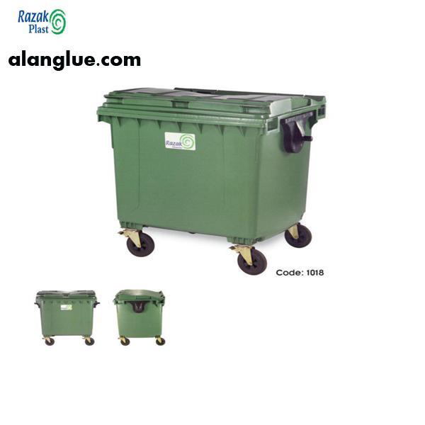 مخزن زباله چهار چرخ1100لیتری رازک شیمی