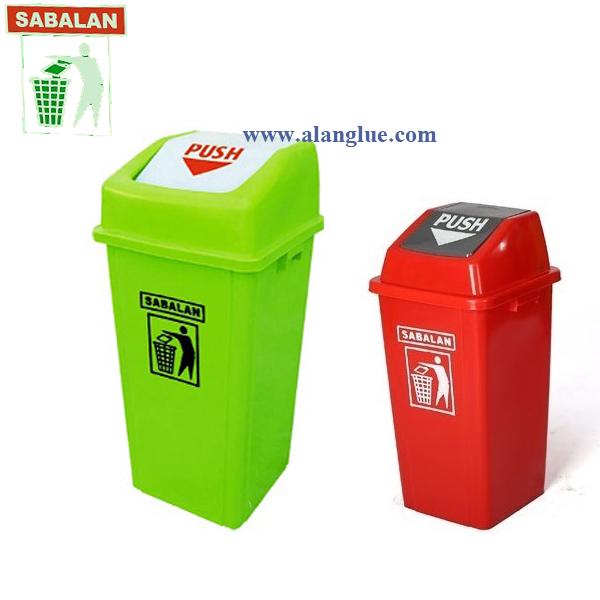 سطل زباله 120 لیتری دمپردارسبلان پلاستیک