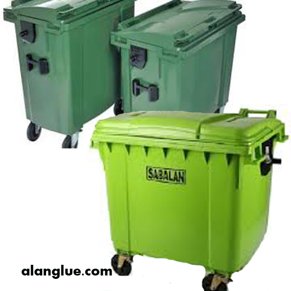سطل زباله 1100لیتری چهارچرخ سبلان پلاستیک