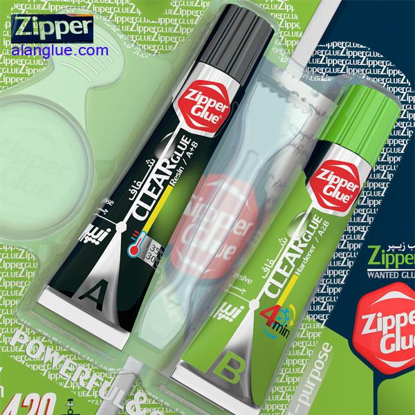 چسب دوقلوی شفاف هزارکاره زیپر zipper